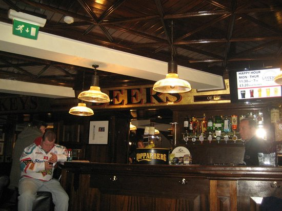 Lavery's Bar: Be quiet! You'll wake him!!!