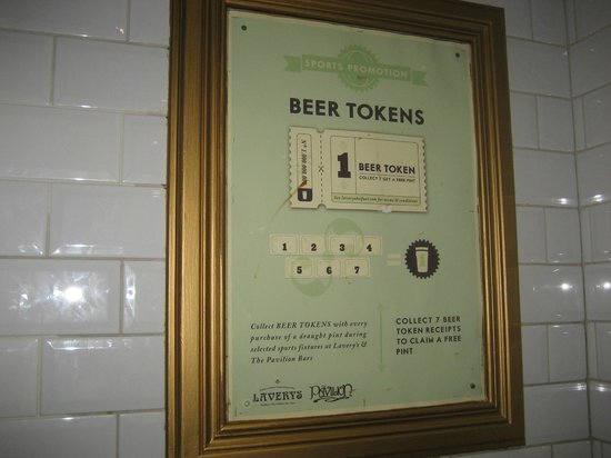 Lavery's Bar: Beer Tokens!! I love it!!