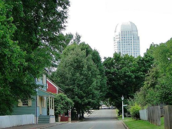The Old And The New Picture Of Old Salem Museums Gardens Winston Salem Tripadvisor