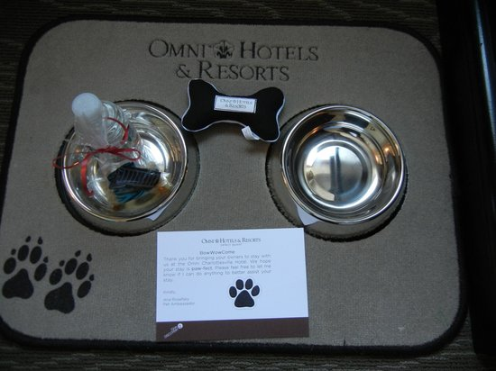 Omni Charlottesville : You know your dog is welcome when you find this in your room!
