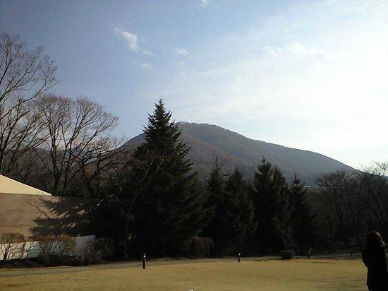 Hakone Highland Hotel: 広い庭からの眺め