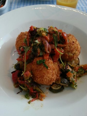 The Chronicle Restaurant: Spring onion croquettes