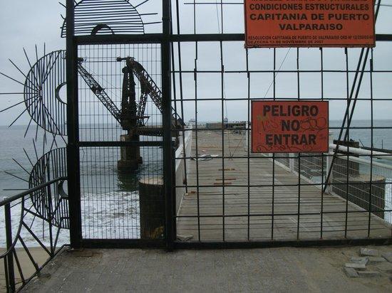 Muelle Vergara : Pier entrance