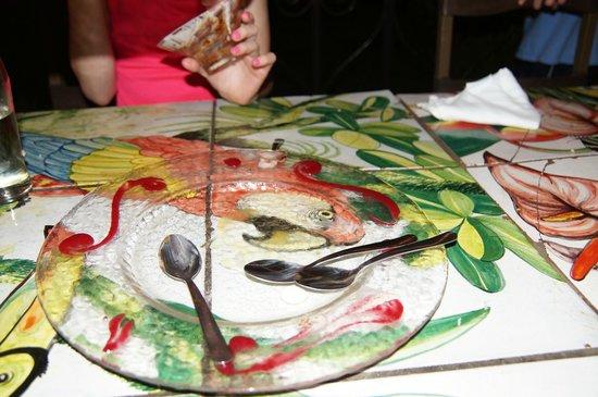Gingerbread Restaurant: Empty dessert plate.  Yum!
