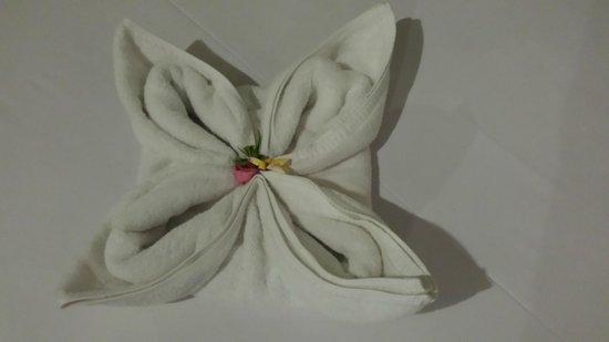 Bali Ayu Hotel: Towel art