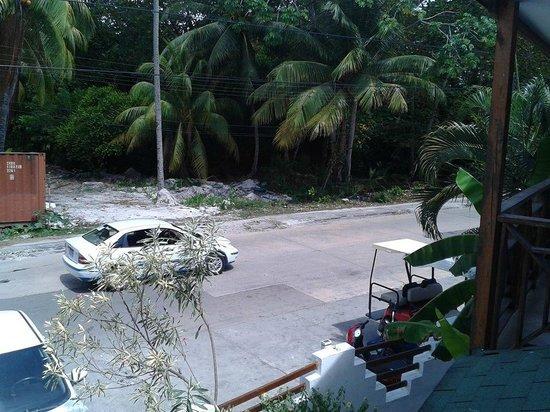 Cocoplum Beach Hotel : Vista da sacada do quarto - frente para rua