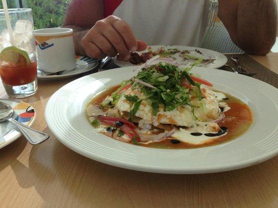 "Live Aqua Cancun All Inclusive: The ""Bigfoot"" breakfast! Yummy!!"