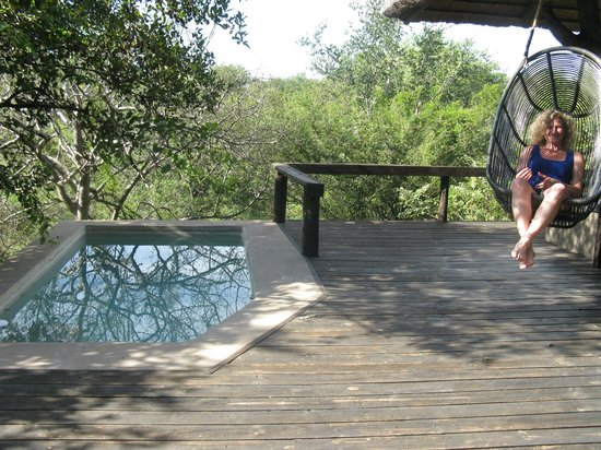 Ezulwini Game Lodges : Billy's Lodge - Private Deck