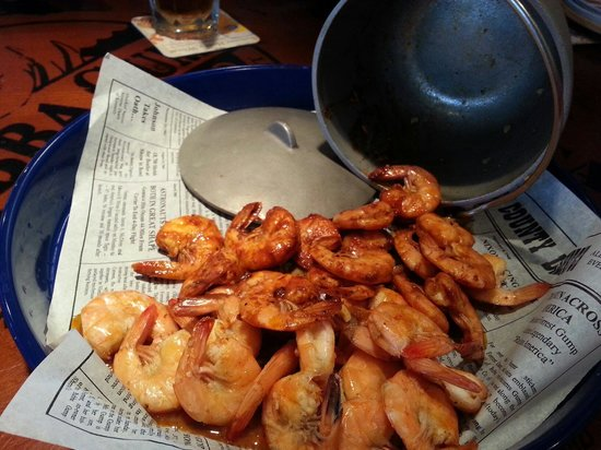 Bubba Gump Shrimp Co.: Shrimper's Net Catch: Easy peel shrimp steamed in beer. We chose the cajun spice..