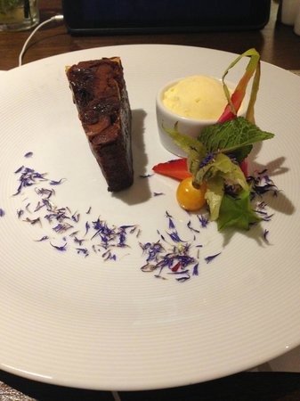 FAB Fusion : Chocolate Brownie with Ice Cream and fruity things :)