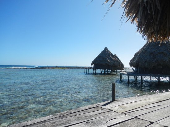 Glover's Atoll Resort: view from our cabana