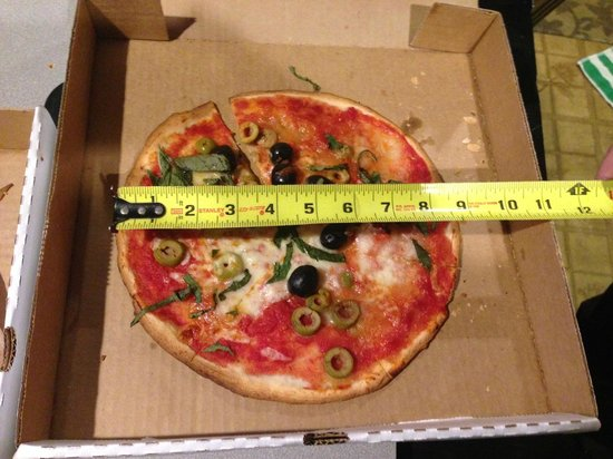 """Transfer Pizzeria Cafe: Not quite a 12"""" pizza."""