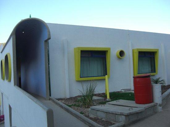 Tecozautla, Meksika: hotel del balneario donde nos quedamos