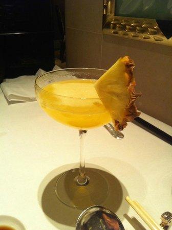 Shang Palace : cocktail : ananas, fruit de la passion, ginger beer et fruit de la passion