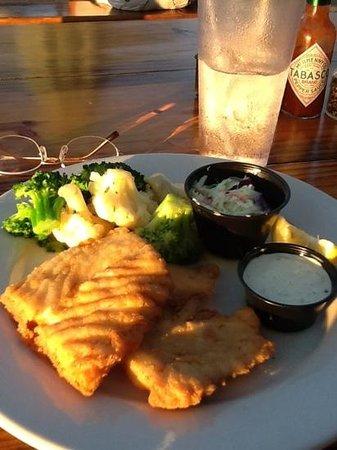 Island Fish Company: fried grouper