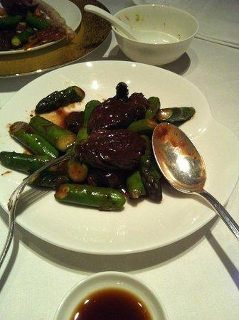 Shang Palace : Boeuf sauté sauce au poivre vert
