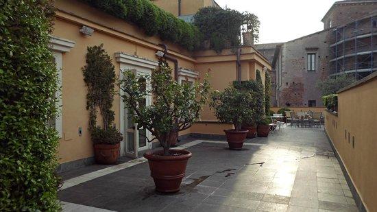 Capo d'Africa Hotel: Terrasse au dernier étage de l'hôtel