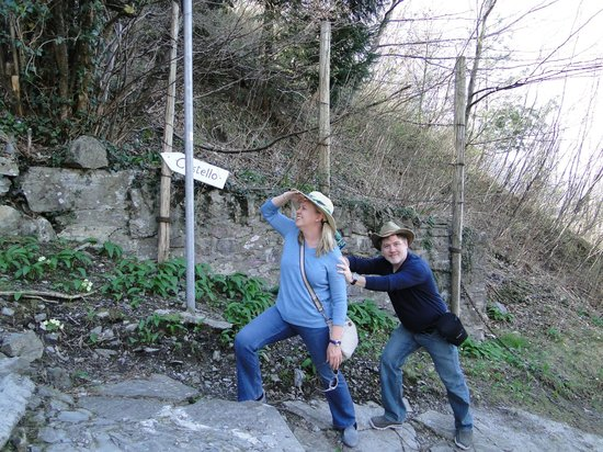 Castello di Vezio : The hike is not for the faint of heart!