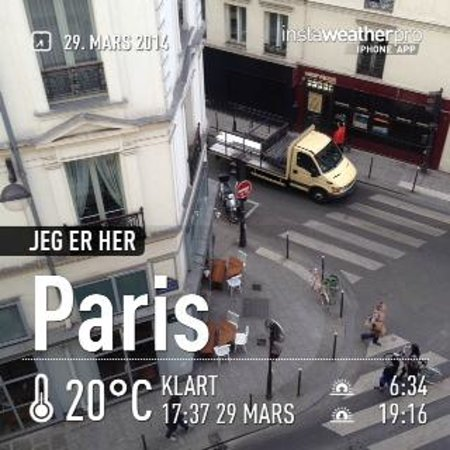 My Hotel in France le Marais : View from room