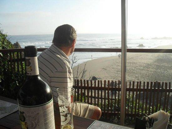 Ristorante Enrico: View over the beach.