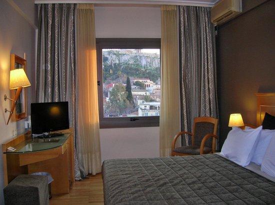 Plaka Hotel: mooi zicht van uit de kamer