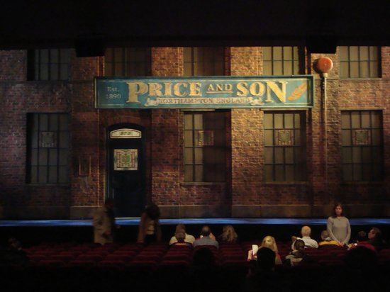 Kinky Boots on Broadway: Before the play started.