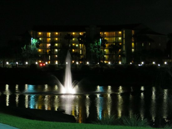 Westgate Town Center Resort & Spa : fountain at night