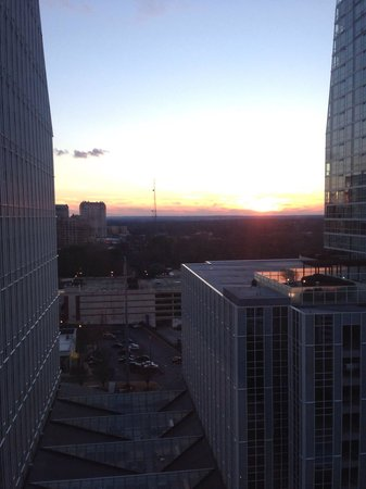 Grand Hyatt Atlanta in Buckhead: View of sunset from my room!