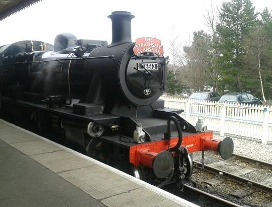 Strathspey Steam Railway: Arrival at Aviemore
