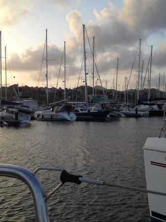 Rodney Bay Marina : View from our boat in the marina