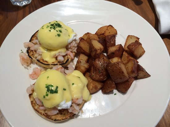 Abode Restaurant: Pacific eggs Benny. Made with shrimp and crab meats.
