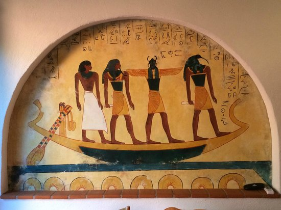 Villa del Tepoz Fuego : The Egyptian Room Mural