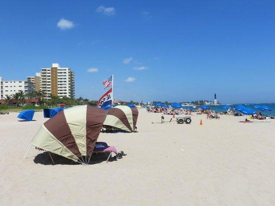 Residence Inn Fort Lauderdale Pompano Beach/Oceanfront : Beach Front Cabana