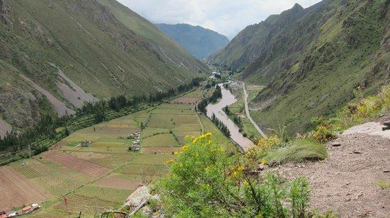 Natura Vive: A view during our climb up the Via Ferrata
