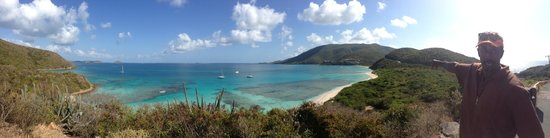 Virgin Gorda Yacht Harbour: Jeremy, Taxi Driver and Tour Guide, showing us his island.