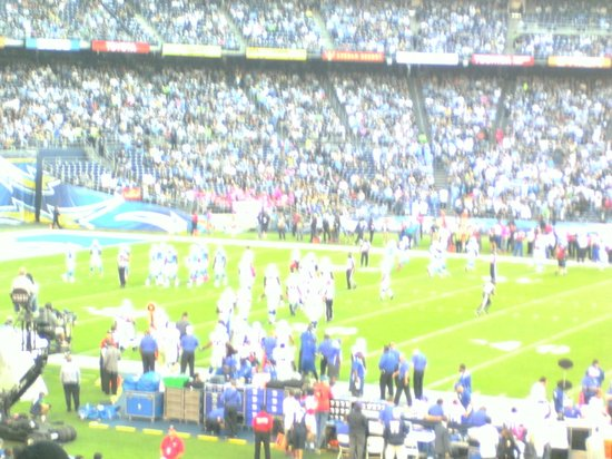Handlery Hotel San Diego: Qualicom Stadium, Chargers v Colts, Oct 2013