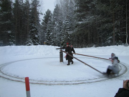 Malye Karely Open Air Museum: Малые Корелы. Катание  на санках