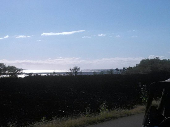 Lava Fields: Expansive fields of lava