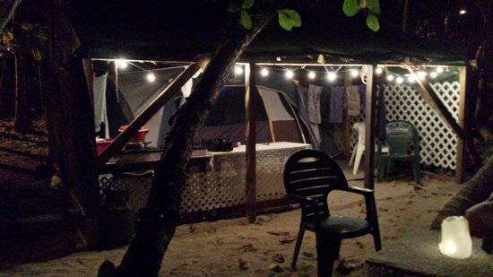 Brewers Bay Campground: a quiet evening with only the sound of   waves