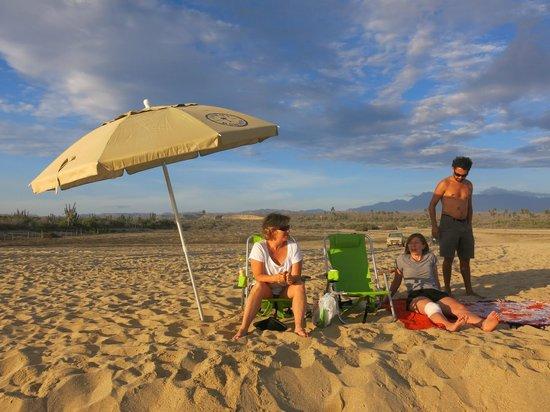 Playa Los Cerritos : En la playita descansando