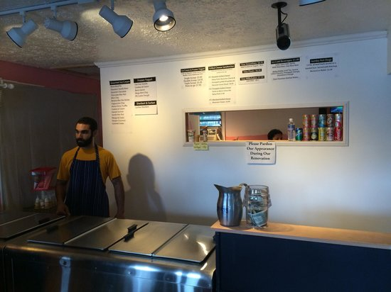 Pink's Creamery: That's one of the owners-- his wife is the secret weapon in the back making sandwiches.