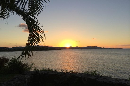 The Buccaneer -- St Croix: Sunset view from our private patio