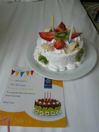 Melas Lara Hotel: Surprise Birthday Cake