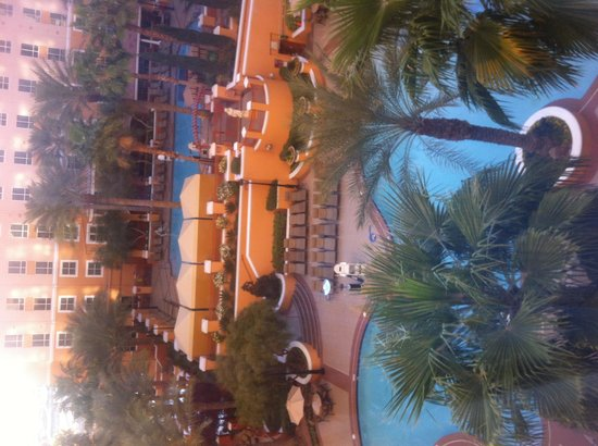 Wyndham Grand Desert : The view down from room 673