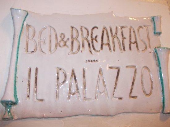 B b il palazzo piastrella con nome foto di il palazzo b b