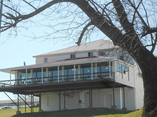 A rear view of Welch's Riverside Restaurant, which provides a scenic view of the Ohio River.