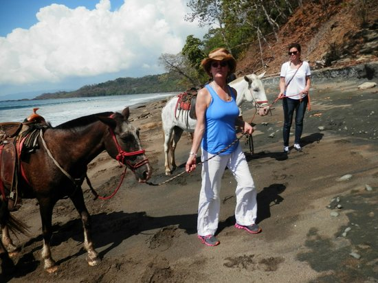 Ylang Ylang Beach Resort: Horseback riding on the beach