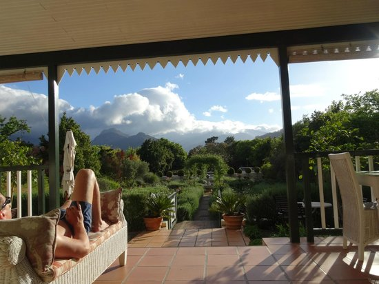 Residence Klein Oliphants Hoek: view from back porch