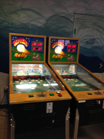 Ocean Lakes Family Campground: games in the arcade