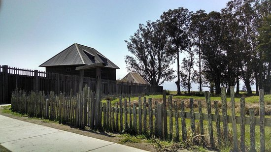 Tomales Bay State Park: View from sitting on a bench outside Fort Ross